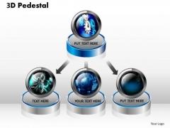 PowerPoint Themes Growth 3d Pedestal Ppt Slides