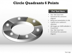 PowerPoint Themes Growth Circle Quadrants Ppt Designs