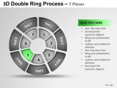 PowerPoint Themes Growth Double Ring Ppt Template