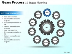 PowerPoint Themes Growth Gears Process Ppt Template
