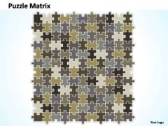 PowerPoint Themes Growth Puzzle Matrix Ppt Perentation