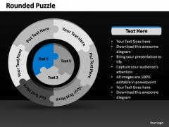 PowerPoint Themes Growth Rounded Puzzle Ppt Designs