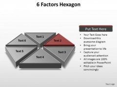 PowerPoint Themes Leadership Factors Hexagon Ppt Backgrounds