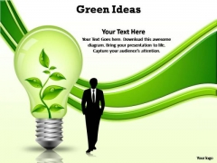 PowerPoint Themes Leadership Green Ideas Ppt Template