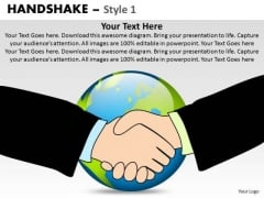 PowerPoint Themes Leadership Handshake Ppt Templates