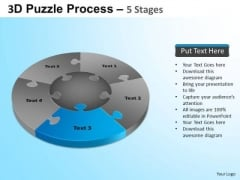 PowerPoint Themes Leadership Jigsaw Pie Chart Ppt Backgrounds