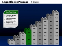 PowerPoint Themes Leadership Lego Blocks Ppt Template