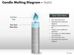 PowerPoint Themes Marketing Candle Melting Ppt Templates