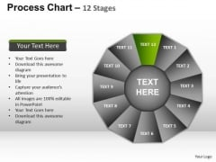 PowerPoint Themes Marketing Process Chart Ppt Slide