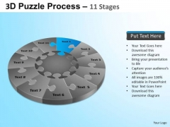 PowerPoint Themes Marketing Puzzle Segment Pie Chart Ppt Template