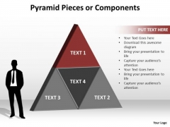 PowerPoint Themes Marketing Pyramid Pieces Ppt Themes
