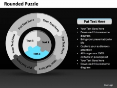 PowerPoint Themes Marketing Rounded Puzzle Ppt Designs