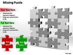 PowerPoint Themes Process 2 Missing Puzzle Pieces Ppt Slide