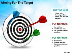 PowerPoint Themes Process Aiming For The Target Ppt Templates