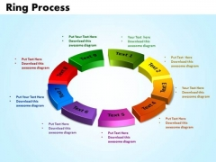 PowerPoint Themes Ring Process Marketing Ppt Slides