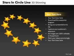 PowerPoint Themes Sales Stars In Circle Ppt Slidelayout