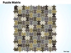 PowerPoint Themes Strategy Puzzle Matrix Ppt Perentation