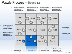 PowerPoint Themes Strategy Puzzle Process Ppt Backgrounds