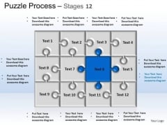PowerPoint Themes Strategy Puzzle Process Ppt Presentation