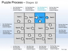 PowerPoint Themes Strategy Puzzle Process Ppt Slides