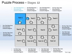 PowerPoint Themes Strategy Puzzle Process Ppt Templates