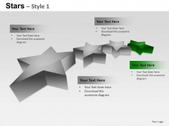 PowerPoint Themes Strategy Stars Ppt Templates