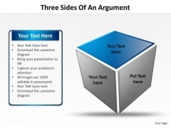 PowerPoint Themes Strategy Three Sides Of An Argument Ppt Slides