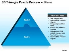 PowerPoint Themes Strategy Triangle Puzzle Ppt Presentation Designs
