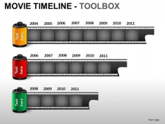 PowerPoint Themes Success Movie Timeline Ppt Slides