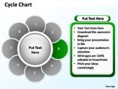 PowerPoint Themes Teamwork Cycle Chart  Ppt Template
