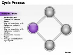 PowerPoint Themes Teamwork Cycle Process Ppt Process