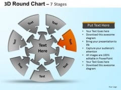 PowerPoint Themes Teamwork Round Process Flow Chart Ppt Backgrounds