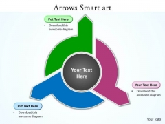 Ppt 3 Different Directions Arrows PowerPoint 2010 Smartart Templates