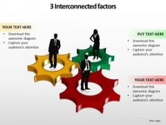 Ppt 3 Interconnected Stock Exchange Factors Components PowerPoint Templates