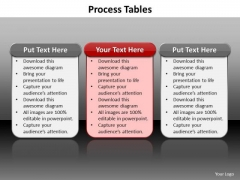 Ppt 3 Reasons You Should Buy From Us Process Tables PowerPoint Templates