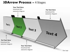 Ppt 3d 4 Power Point Stage Selling Pre Arrow Progression Graphic