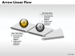 Ppt 3d Arrow Linear Process Flow PowerPoint Template Of 2 Phase Diagram Templates