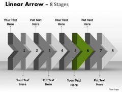 Ppt 3d Arrow Representing Eight Sequential Steps Time Management PowerPoint 7 Graphic