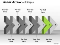 Ppt 3d Arrow Representing Eight Sequential Steps Time Management PowerPoint 8 Graphic