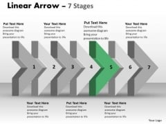 Ppt 3d Arrow Representing Realistic Steps 6 Graphic