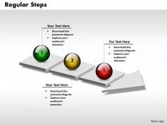 Ppt 3d Arrow Representing Regular PowerPoint Slide Numbers Templates
