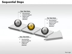 Ppt 3d Arrow Representing Sequential Steps PowerPoint Templates