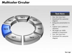 Ppt 3d Blue Animated Circular Motion PowerPoint Process Templates