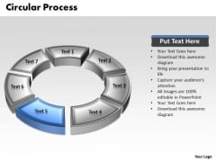 Ppt 3d Blue Animated Multicolor Circular Process PowerPoint Templates