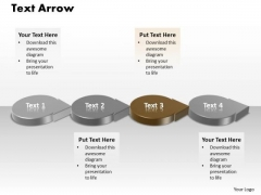 Ppt 3d Brown Circle PowerPoint Template Shaped Text Arrow Templates