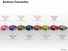 Ppt 3d Circular Arrows Business Transactions Diagram PowerPoint Free Templates