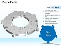 Ppt 3d Circular Interconnected Puzzle Pieces Business PowerPoint Templates
