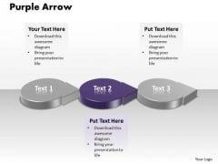 Ppt 3d Circular PowerPoint Graphics Arrows Showing Purple Stage Templates
