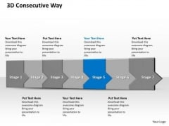 Ppt 3d Consecutive Demonstration To Block Banking Losses Seven Steps PowerPoint Templates