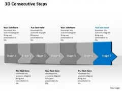 Ppt 3d Consecutive Demonstration To Freeze Banking Losses Seven Steps PowerPoint Templates